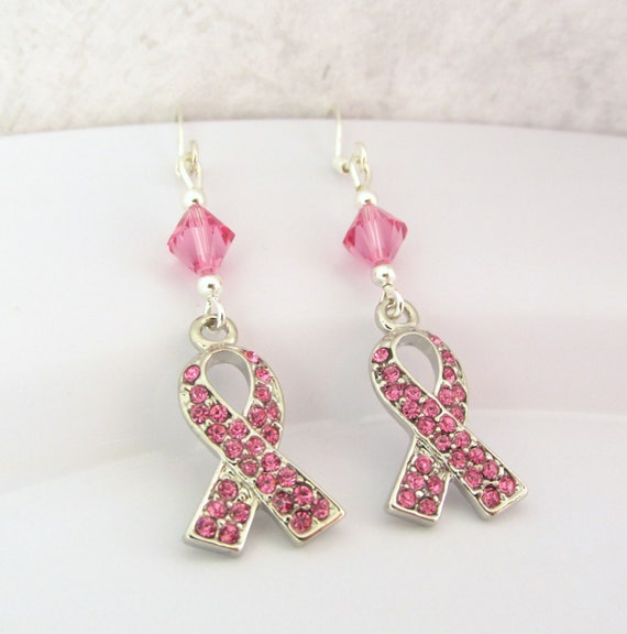 Breast Cancer Awareness Earrings Breast Cancer Jewelry