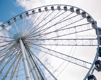 The Great Wheel in Seattle|  Photographic Print | Various Sizes