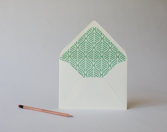 leaves lined envelopes (16 color options) - sets of 10