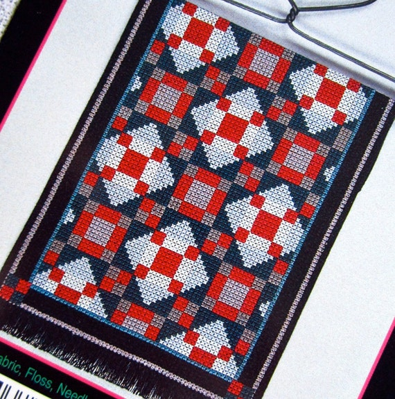 Jacob s Ladder Amish Quilt Counted Cross Stitch by CSCDestash