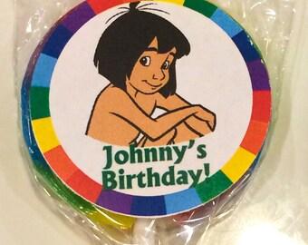 Mowgli - The Jungle Book Personalized Mini Lollipops - Set of 10 lollipops