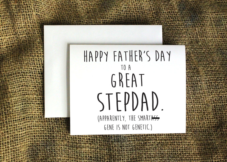 Stepdad Card Smartss Gene Card Stepfather Card Father's