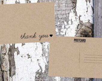 Thank You Postcards / Wedding Thank You Postcard
