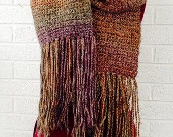 Multi-Color Crochet Scarf
