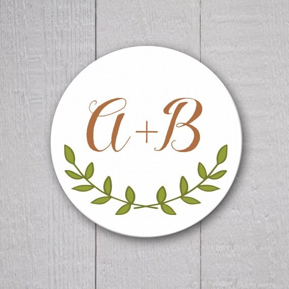 Rustic Wedding Sticker Personalized Wedding By