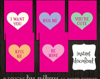 Candy Hearts // Valentine's Printables // Instant Digital Download