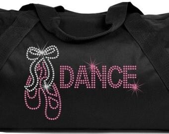 ballet dance bling duffle bag rhinestone ballet dance bling bag dance ballet bling tote bag bling dance bag ballet dance gym bag bling bag