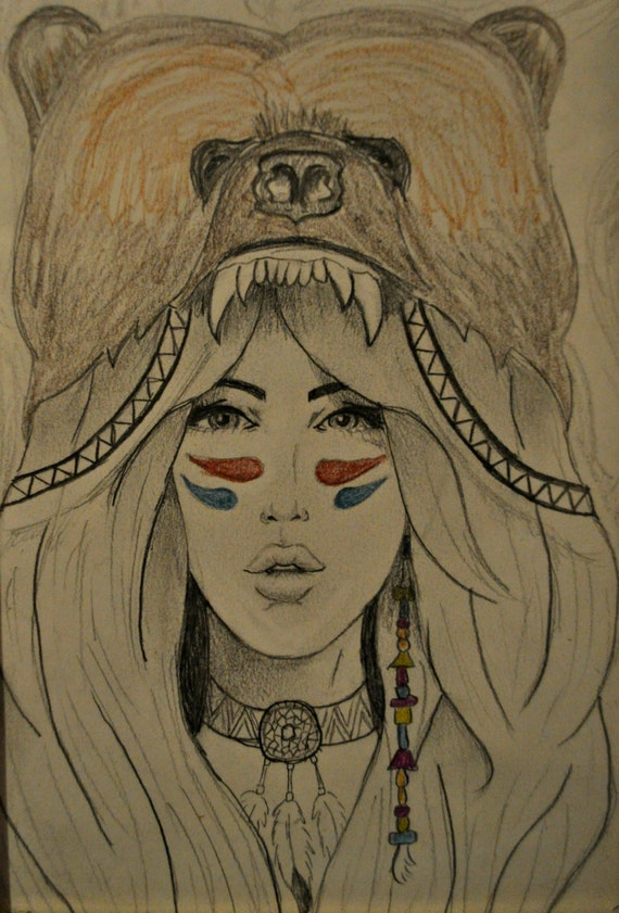 Bear headdress drawing - photo#12