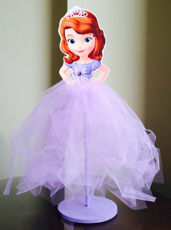 Items similar to Sofia the First Wood Centerpiece with Tutu for Birthday  Party, Cake Table, Guest Table, Decoration, Party Favor Box, Home Decor on  Etsy - Items Similar To Sofia The First Wood Centerpiece With Tutu For