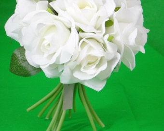 No. 1002 Off  White Rose Bouquet