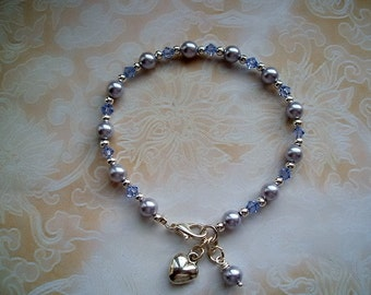 Swarovski Wedding Bracelet with Pearls and Crystals
