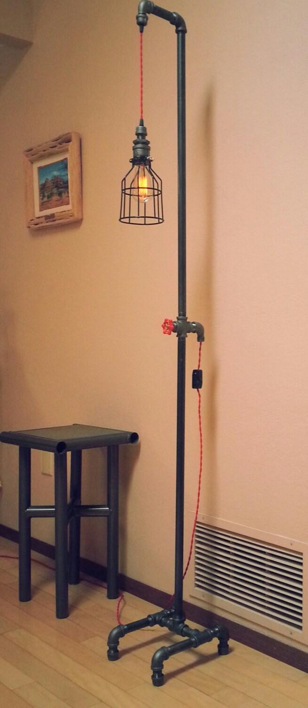 floor lamp industrial pendant floor lamp by desertandiron. Black Bedroom Furniture Sets. Home Design Ideas