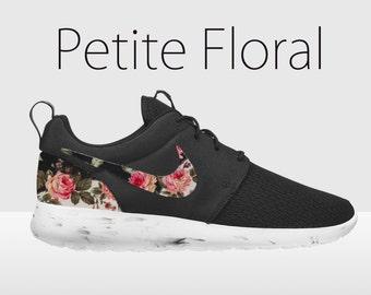 nike roshe femme,Nike Roshe Run Femme Floral Noir Fleur HF