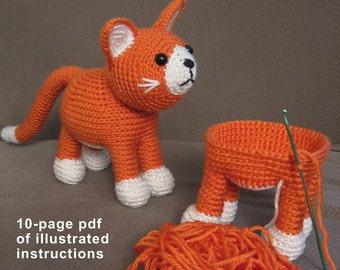 Grumpy Cat Crochet Hat Pattern Free : haakpatroon kat ? Etsy NL