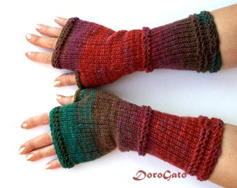 Knit gloves pattern, fingerless gloves pattern, glove mittens pattern, Knit gloves, Instant Download /6001/