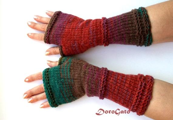 Fingerless Gloves Knitting Pattern Double Pointed Needles : Knit gloves pattern fingerless gloves pattern glove mittens