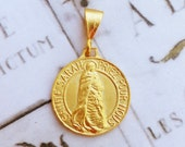 Medal - Sainte Sarah & Saintes Maries 18K Gold Vermeil Medal - 23mm