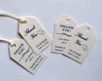 Wedding Thank You Tags - Wedding - Thank You Tags - Wedding Favor - Favor Tags - Tags - Thank You - Party Favor - Engagement
