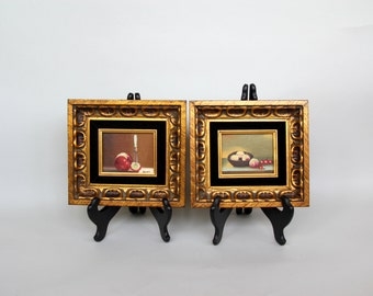 Pair of Framed Still Life Oil Paintings