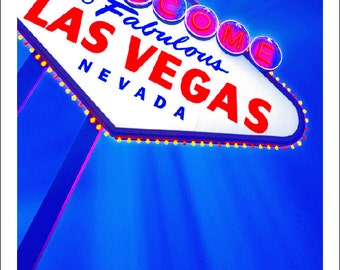 las vegas photo, las vegas card, color photo note card, las vegas sign photo, las vegas city limit sign, las vegas, nevada, vegas baby