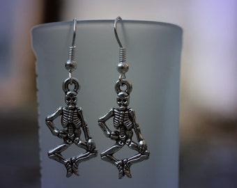 Silver Skeleton Earrings