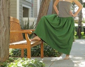 Double-Sided Maxi Long Skirt with Pockets and Strings on the sides
