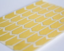 "1"" metallic gold sticker, arrow sticker label, letter envelope seal, geometric sticker, paper label, self adhesive bag seal gift packaging"
