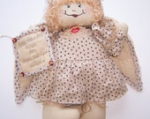 Clara The Guardian Angel, Collectible, Country Primitive Doll, Wonderful Life, Quilted, Home & Living, Country Decor