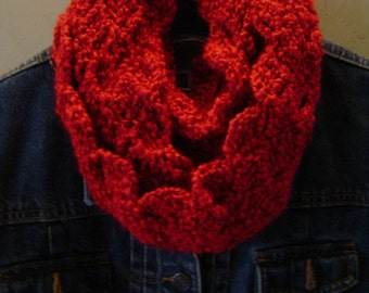 Infinity Crocheted Scarf  - Choose Color