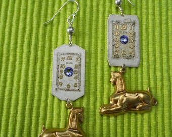 Steampunk Sphinx Earrings
