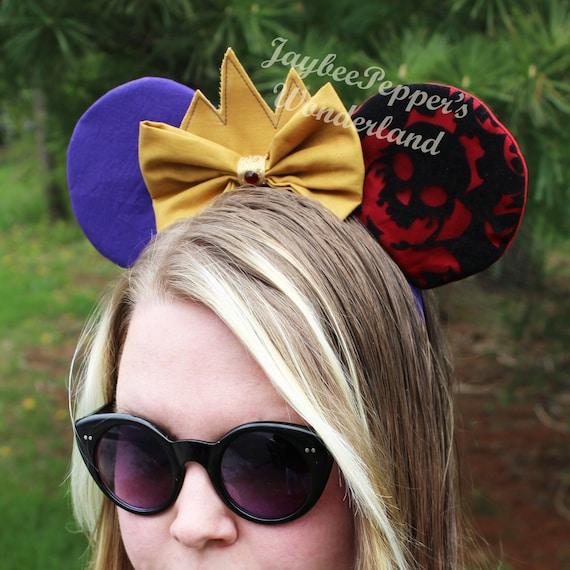 Evil Queen ears Snow White mouse ears red sparkles disneyDisney Evil Queen Ears