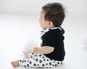 SALE 50% off -Baby leggings - spotted, polka dot, unisex leggings, todder leggings, baby pants, baby clothing, organic leggings