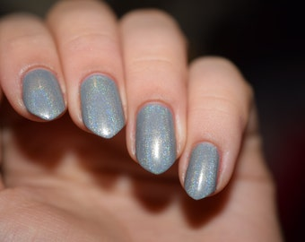 Lonely Day - Gray holographic indie nail polish (12ml)