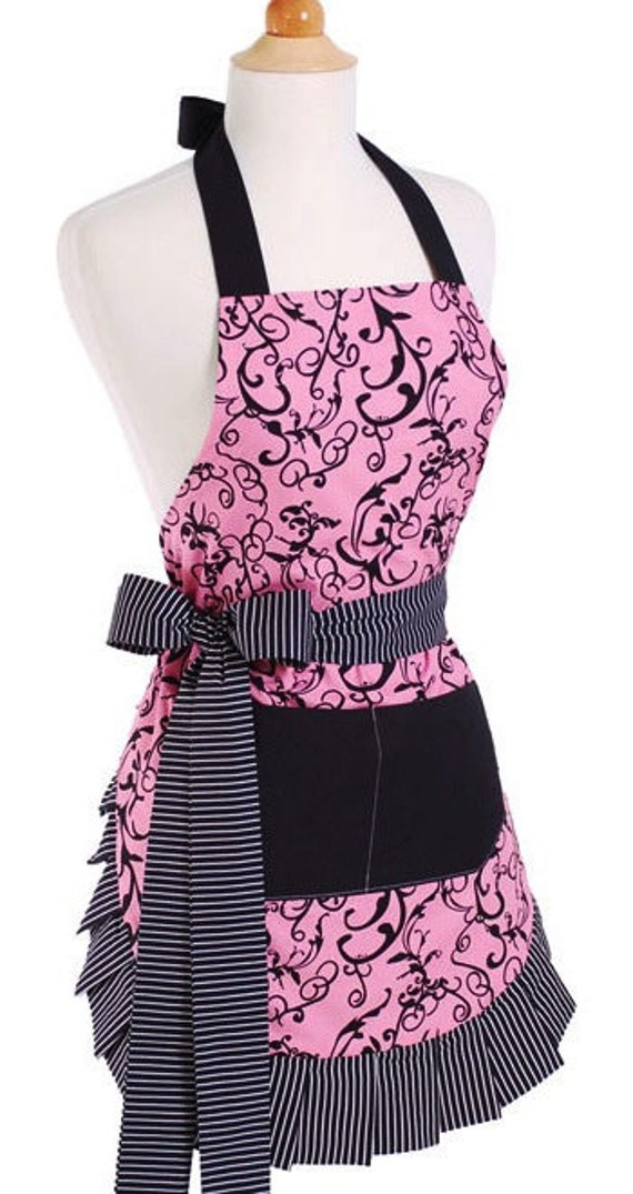 Flirty Aprons CHIC PINK APRON Is Sexy Fun By