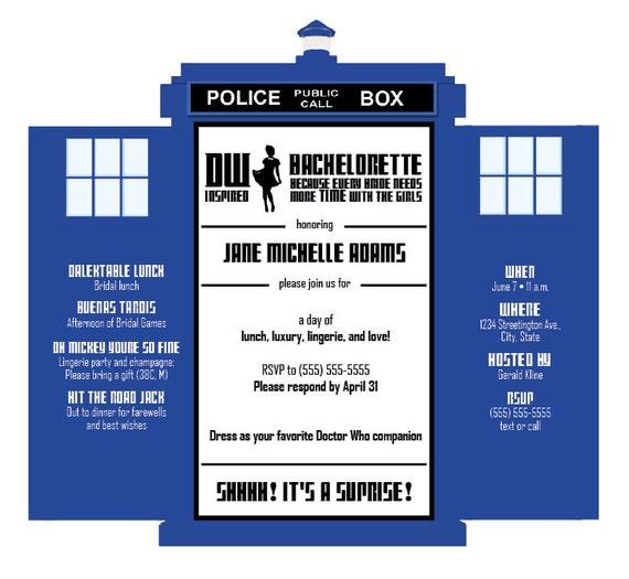 Tardis Invitations – Doctor Who Party Invitations