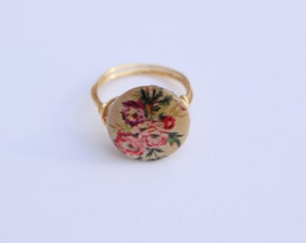 Floral Print Ring