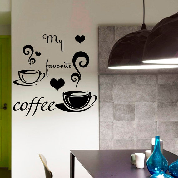 Kohls Coffee Wall Decor : Items similar to coffee decals cafe kitchen wall