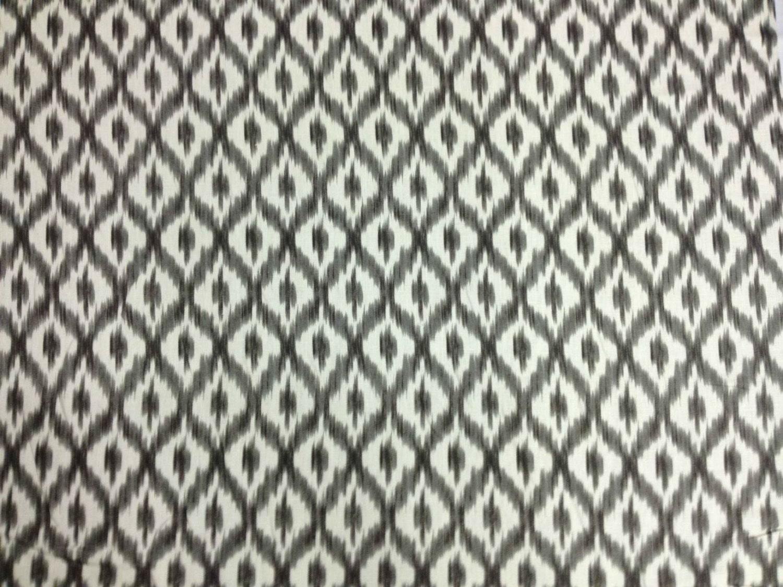 Gray And White Ikat Fabric Dedra Shade Fabric Ikat Drapery