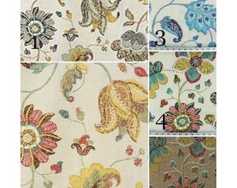 "Window Curtains - Pair of linen drapery curtain panels 24"" or 50"" W x 63, 84, 90, 96, 108 & 120"" L.  Custom Window Treatments. Spring Mix"