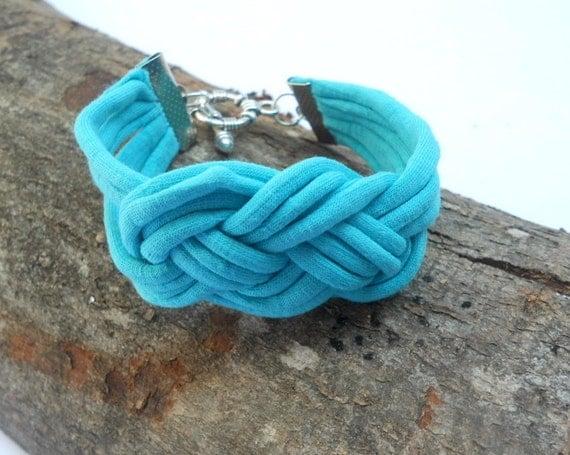 infinity fabric bracelet emerald