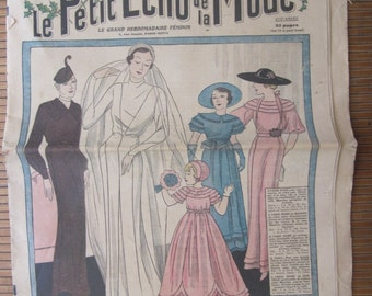 french magazine le petit echo de la mode february 1935