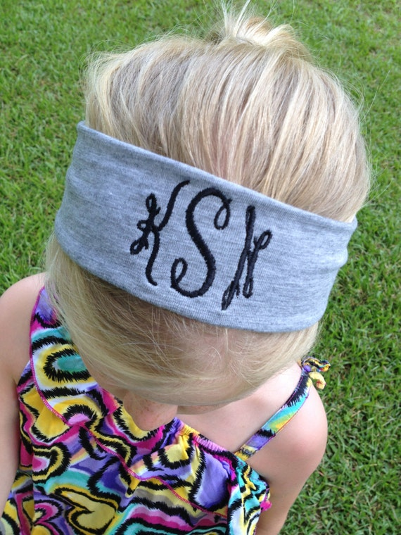 Women's and Girl's Monogrammed Headband
