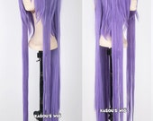 Vocaloid gakupo 100cm long straight purple cosplay wig with clip  . with bangs