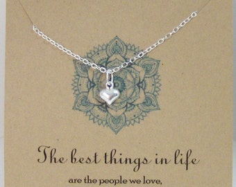 The Best Things In Llife,Necklace,Friend,Friendship,Best Friend,Heart Necklace,Heart,Heart Jewelry,Love,Love yoMinimalist ,Sterling Necklace