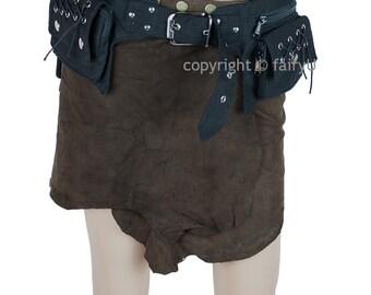 Fabric (padded cotton) three pockets belt, utility bag - Campe (0007)