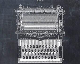 Patent Print of a Typewriter Patent Art Print Patent Poster