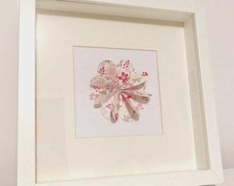 3D Paper Flower Frame