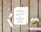Funny and Cute Will You Be My Bridesmaid Card, Cute Way Of Asking in Peach and Gray by Yellow Heart Bridal