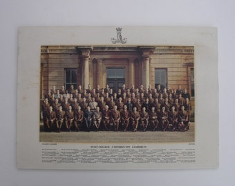 1970s Regiment Photo of the Staff College C Division 1975 Camberley Vintage Military Photo Vintage Army Photo Army Photo
