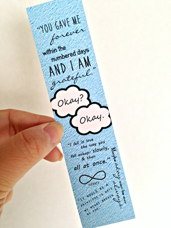 TFiOS Quote Bookmark